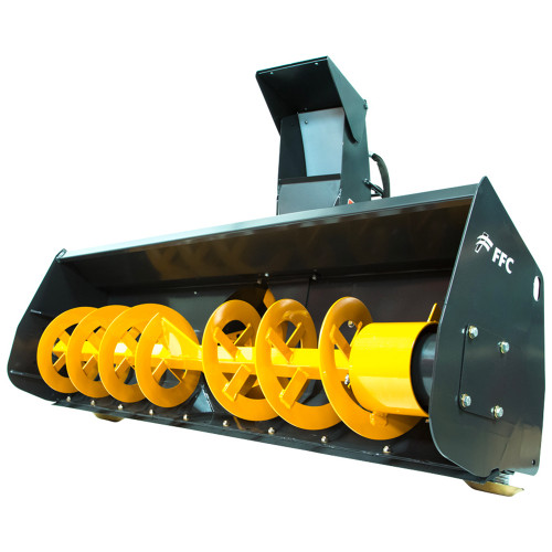 """FFC 60"""" Low Flow Snow Blower Attachment for Skid Steer Loader"""
