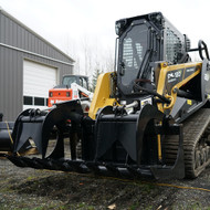Skid Steer Basics Root Grapple Attachment from the side