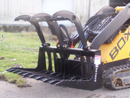 "48"" Mini Brush Grapple Attachment for Mini Skid Steer Loader"