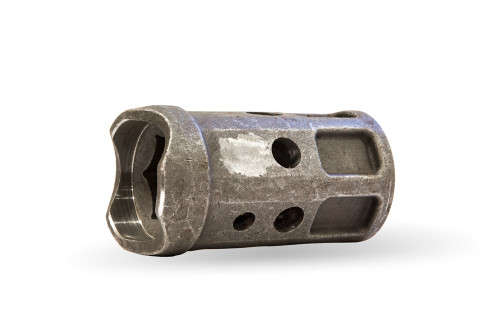 """Auger Repair Hub for 2-7/8"""" Pipe - Front/Side View"""