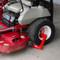 Equipment Lock Wheel Lock on lawn mower