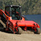 Eterra Skid Steer Beach Cleaner Beach Master on Beach.