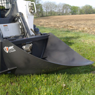 "FFC 42"" Skid Steer Tree Scoop Attachment with Logo"
