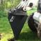 """FFC 42"""" Skid Steer Tree Scoop Attachment Machine View"""