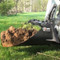 FFC Skid Steer Tree Scoop Attachment Dirt Scooping