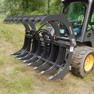 Bradco Skid Steer Root Rake Attachment Open