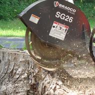 Bradco Skid Steer Stump Grinder Attachment
