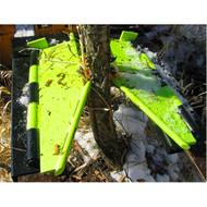 Brush Grubber Skid Steer Tree and Post Puller Pallet Fork System