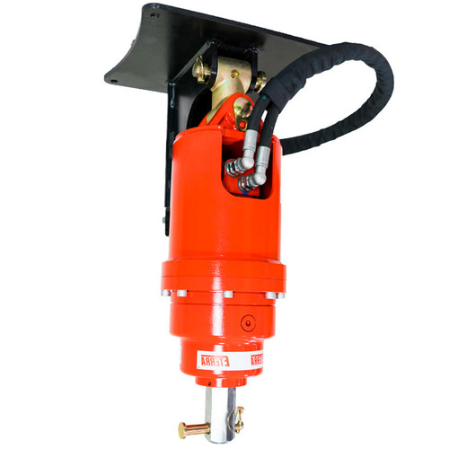 Excavator Earth Augers by Eterra with Standard Cradle Mounts and Excavator Coupler Mounting Plates.