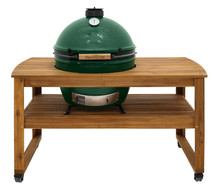 Extra Large Big Green Egg in Acacia Table Package 3
