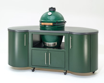 "Big Green Egg 76"" Custom Aluminum Cooking Island"