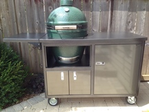 "Challenger Torch 48"" Grill Cart w/ Flip Up Table"