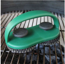 Dual Brush Grill And Pizza Stone Scrubber