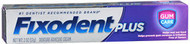 Fixodent Plus Denture Adhesive Cream Gum Care - 2 oz