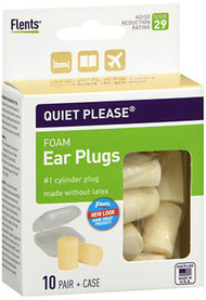 Flents Quiet Please Comfort Foam Ear Plugs - 10 pairs
