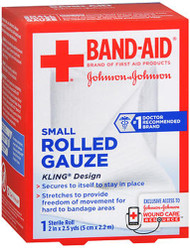 "Johnson & Johnson Red Cross First Aid Rolled Gauze 2"" - Each"