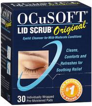 Ocusoft Lid Scrub Original Eyelid Cleanser Pre-Moistened Pads - 30 ct