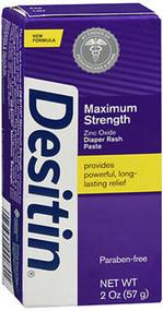 Image of 2-ounce tube of Desitin Maximum Strength Original Paste