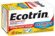 Ecotrin Safety Coated Aspirin 325 mg Regular Strength Pain Reliever - 300 Tablets