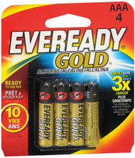Eveready Gold Alkaline Batteries AAA - 4 ct
