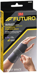 Futuro Compression Stabilizing Wrist Brace Left Moderate Support L/XL - 1 each