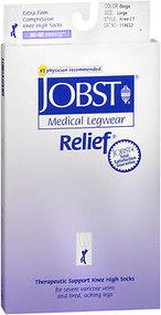 Jobst Medical LegWear Knee High 30-40 mmHg Extra Firm Compression Beige Close-Toe #114632