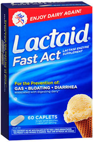 Lactaid Fast Act Lactase Enzyme Supplement - 60 Caplets