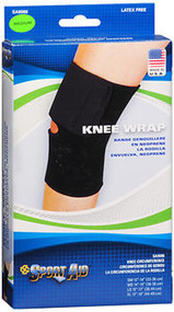 Sport Aid Knee Wrap Black MD - 1 Each