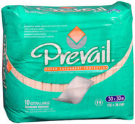 Prevail Disposable Underpads Super Absorbency Extra Large - 10 pks of 10