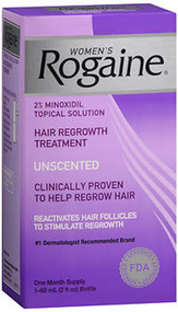 Rogaine Women's Topical Solution, Hair Regrowth Treatment, Unscented - 2 fl oz