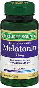 Nature's Bounty Dual Spectrum Melatonin 5 mg Bi-Layer - 60 Tablets