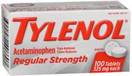 Tylenol Regular Strength Tablets, 325 mg  - 100 ct