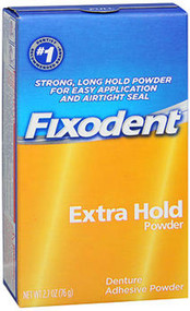 Fixodent Denture Adhesive Powder Extra Hold - 2.7 oz