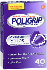 Super Poligrip Comfort Seal Strips - 40 ct