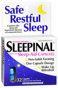 Sleepinal Sleep Aid Capsules - 32 ct
