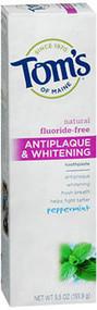 Tom's of Maine Antiplaque & Whitening Fluoride-Free Toothpaste Peppermint - 5.5 oz