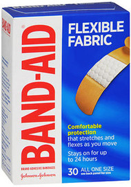Band-Aid Flexible Fabric Bandages All One Size - 30 ct