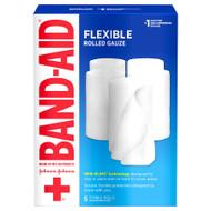 Band Aid Rolled Gauze Medium - 5 rolls
