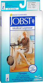Jobst Medical Legwear, Opaque, Knee High, Beige, Medium, 20-30 Compression #115271