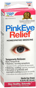 The Relief Products Pink Eye Relief Homeopathic Sterile Eye Drops - 0 33 oz