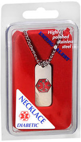 Emerg Alert Diabetic Necklace - 1 ea.