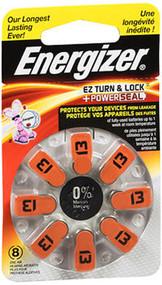 Energizer EZ Turn & Lock Hearing Aid Batteries Size 13 - 8 ct