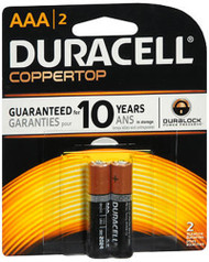 Duracell Coppertop AAA Alkaline Batteries 1.5 Volt - 2 ct