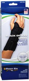 Sport Aid Deluxe Wrist Brace Black XL Right - 1 ea.