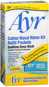 Ayr Sinus Nasal Rinse Kit Refill Packets