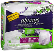 Always Discreet Underwear Maximum Absorbency Size Extra Large - 3pks of 15