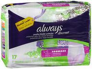 Always Discreet Underwear Maximum Absorbency Size Large - 3pks of 17
