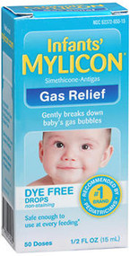 Mylicon Infants' Gas Relief Dye Free Drops - .5 oz