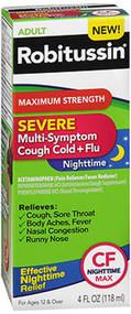 Robitussin Severe Multi-Symptom Cough Cold + Flu Nighttime Liquid - 4 oz