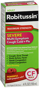 Robitussin Severe Multi-Symptom Cough Cold + Flu Liquid - 4 oz